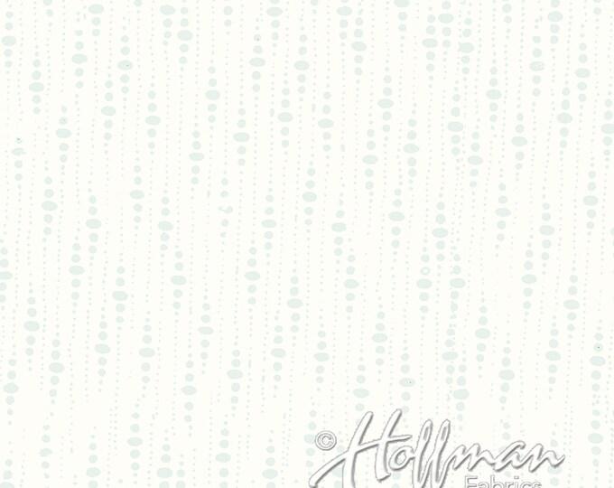 Hoffman P2046-521 White Batik with Grey Dot Fabric Snow White Batik BTY
