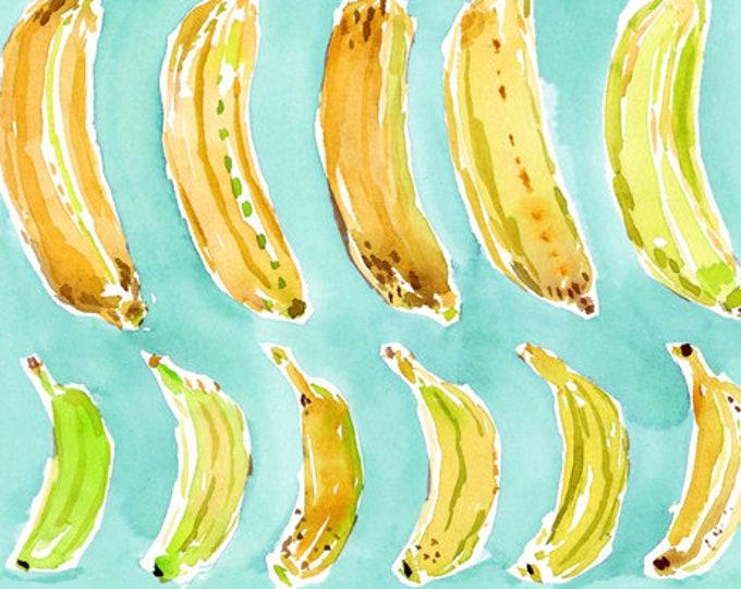 Quilting Treasures QT Fabrics Wild & Fruity Banana On Blue Fabric 27045-Q BTY
