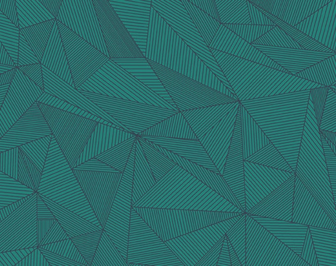 Andover Redux Giucy Giuce Terra Galapagos Teal Turquoise Geometric Line Fabric BTY 8962-T