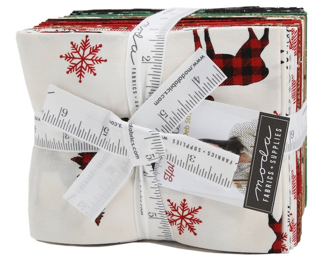 NEW Moda Holiday Lodge Deb Strain Holiday Christmas Red Green 26 Fat Quarter Fabric FQ Bundle