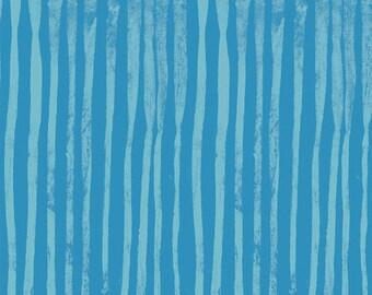 NEW Windham LINE by Marcia Derse Cerulean Aqua Blue Fabric 50410-18 BTY