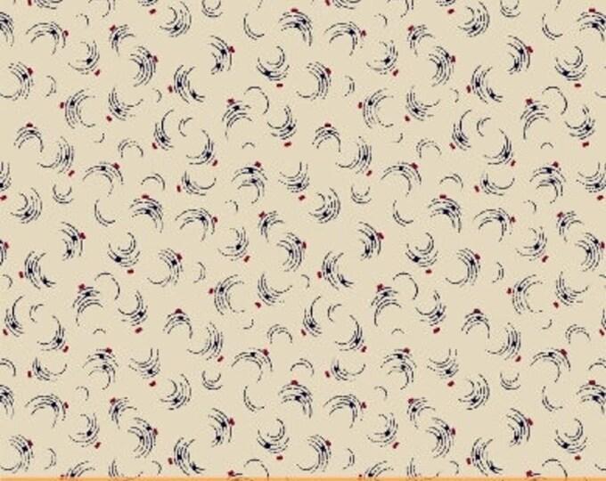 Windham Freedom Bound Cream Red Blue Swirl Background Civil War 41972-5 Fabric BTY