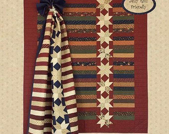 Kansas Troubles Quilters Stars on a Roll Single Jelly Roll Pattern