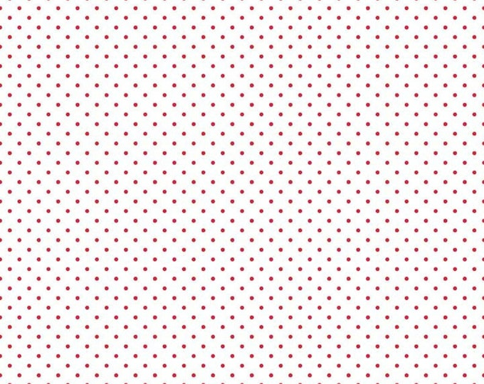 Riley Blake Designs Small Dots RED C660-80 Cotton Fabric BTY