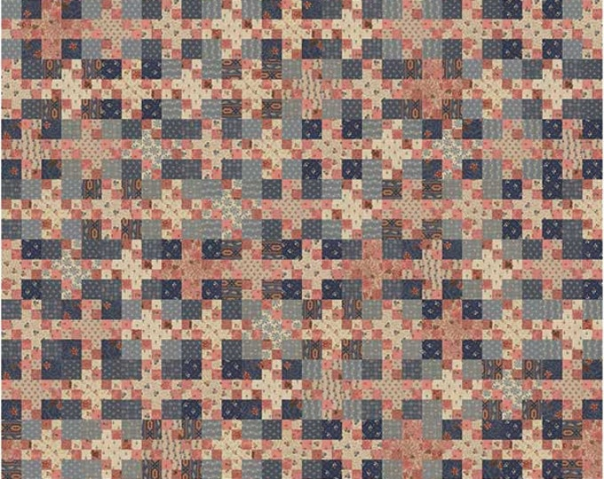 Miss Rosie's Raspberry Blues  Fat Quarter Friendly Quilt Pattern