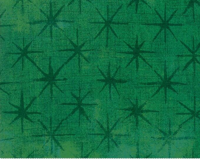 Moda Grunge Seeing Stars Kelly Green Mottled Background 30148-54 Fabric BTY
