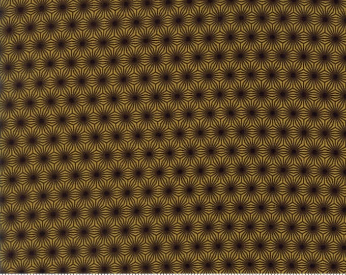 Moda Pumpkin Pie Prints Laundry Basket Quilts LBQ Brown Yellow Polka Dot Seeds Fabric BTY 42283-17