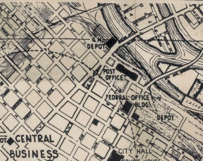 Free Spirit Tim Holtz - Dapper - Street Map Writing Beige Black Fabric PWTH056 BTY