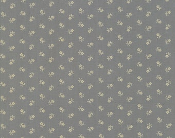 Moda Reflections by Jo Morton Grey Gray Light Blue Flower Civil War Reproduction Fabric 38014-27 BTY