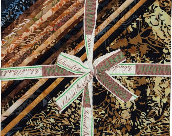 "Island Batik River's Edge Black Tan Brown Batiks Stack Layer Cake 10"" Squares"