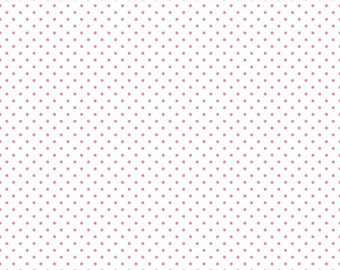 Riley Blake Designs Small Dots HOT PINK C660-97 Cotton Fabric BTY