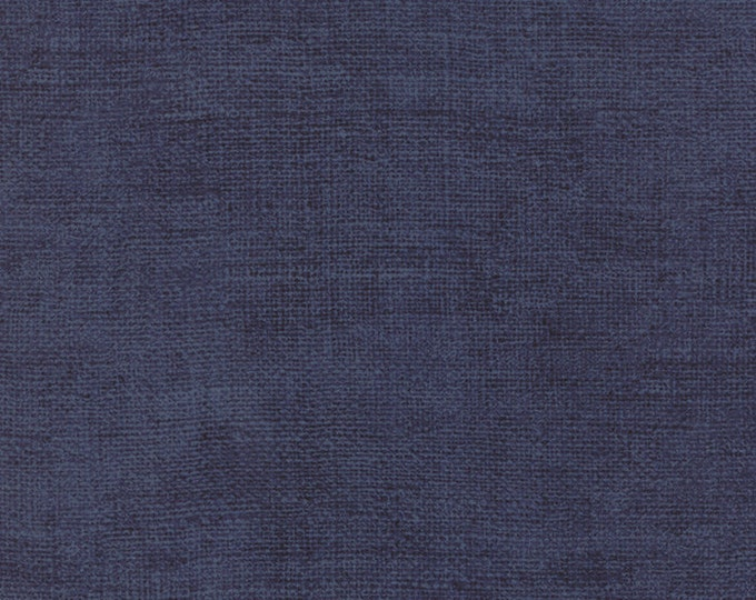 Moda Because of the Brave Blue Rustic Weave American Patriotic Soldier Fabric 32955-114 BTHY