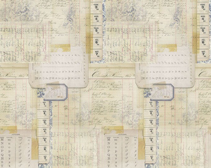 Free Spirit Tim Holtz - Memoranda 2 - Calendar Multi Fabric PWTH099 BTY
