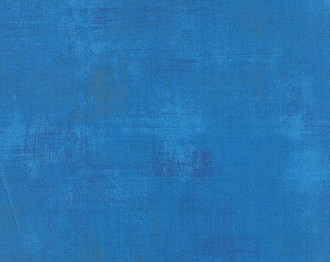 Moda Basic Grey Grunge Bright Sky Blue 30150-299 Fabric BTY 1 yd