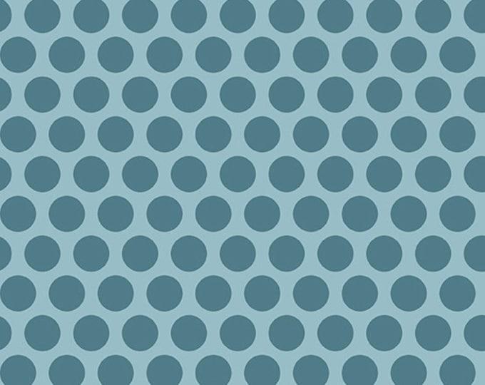 Andover Laundry Basket Quilts LBQ Edyta Sitar Something Blue Blue Polka Dot Fabric 8831-W BTHY