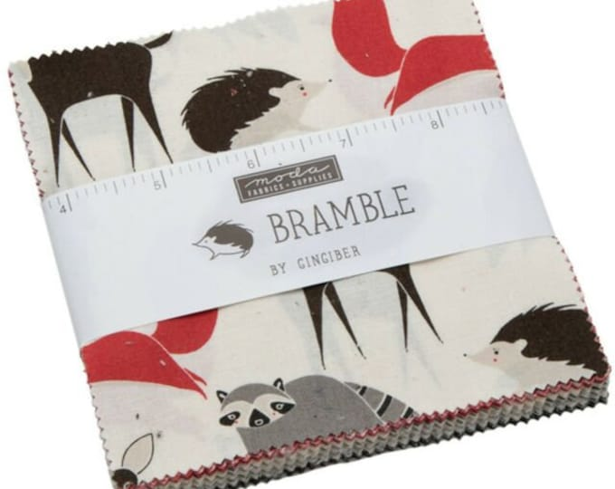 Bramble Charm Pack by Gingiber for Moda -48280LC  5 x 5 42
