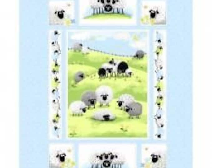 "Lewe the Ewe quilt panel 100% cotton 36"" By Susybee"