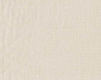 BeSpoke NATURAL Cream Solid Double Gauze Lightweight Cotton and Steel Fabric 26 Inches