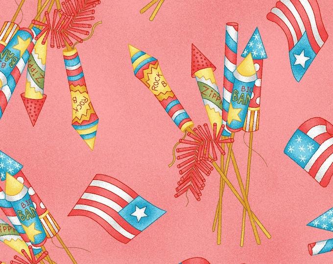 Maywood Fabric MAS9383-R Back Porch Celebration Designer: Meg Hawkey Vintage Fireworks Fabric BTY