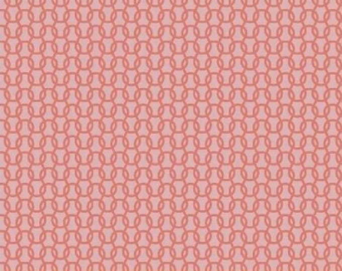Windham Fabrics Uppercase by Janine Vangool cotton Knitted in Pink with Dark pink swirls  41821-4 BTY