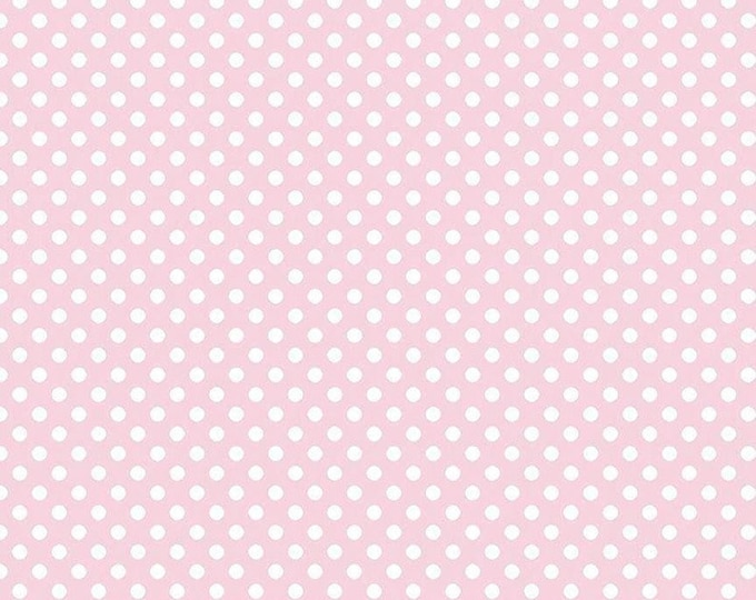 Riley Blake Designs Small Dots Baby Pink C670 Cotton Fabric BTY