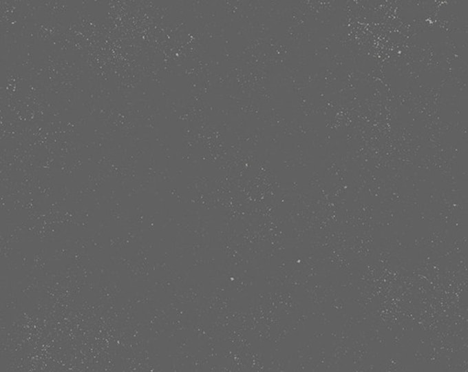 Andover Declassified Spectrastatic Giucy Giuce GUNMETAL Gray Grey White Speckle Static Dot Fabric BTY 9248-C