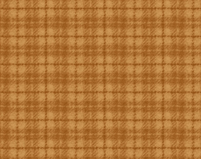 Maywood Woolies Orange Gold Plaid FLANNEL Fabric 18502-OO BTY