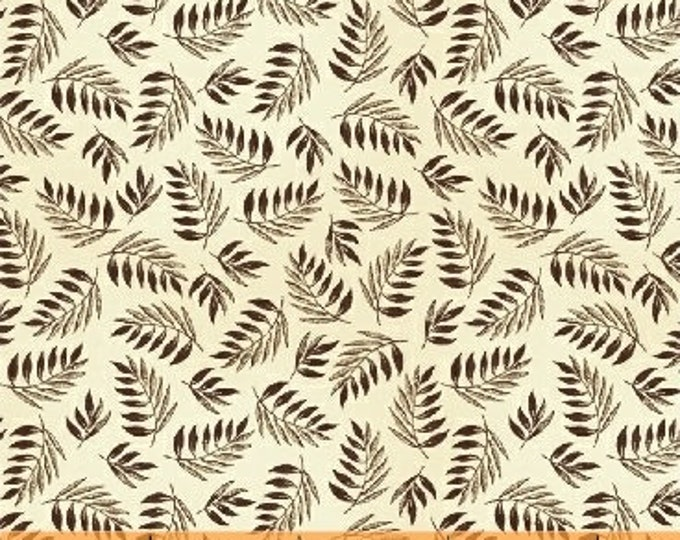 Windham Simply Red Cream Mary Koval Beige Brown Leafy Civil War Fabric 42894-3 BTY