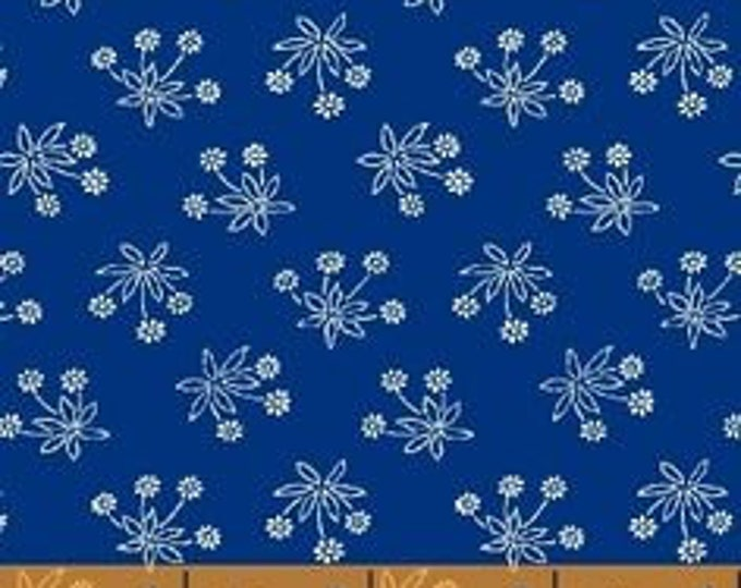 Windham Fabric Shirt & Tie by Point of View Blue and White floral print  40419-7   BTY