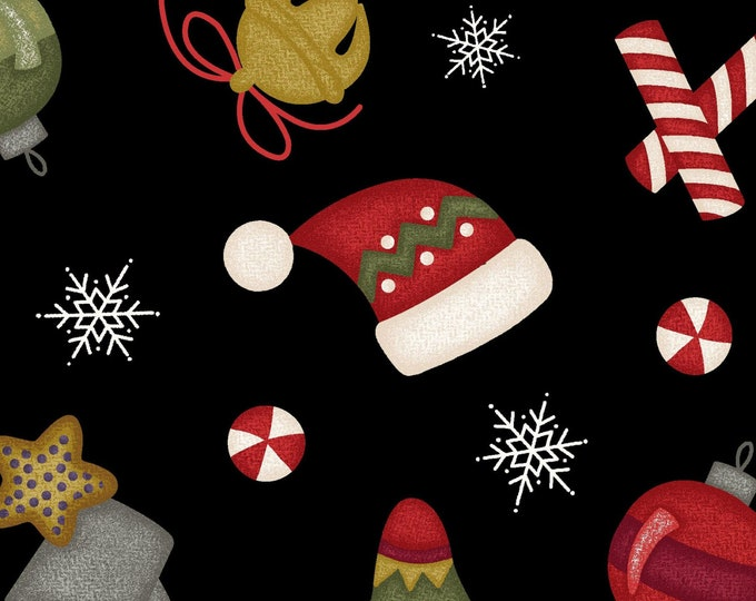 Maywood WOOLIES Most Wonderful Time Holiday Christmas Flannel Fabric 9212-J BTHY