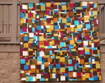 Marcia Derse Basketweave Palette Solid Lemon Pepper Fabric Quilt Kit 66 by 70
