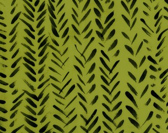 Treasure Hunt by Marcia Derse Summer Arrow Green with Black 43190-18 Fabric BTY