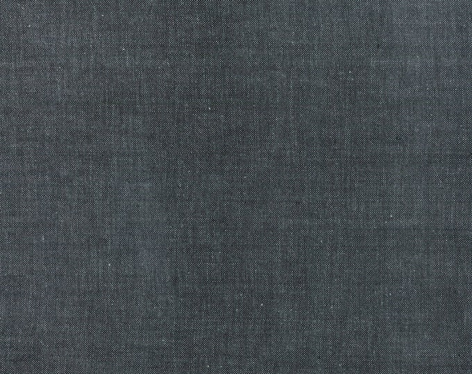Moda Classic Wovens Cross Weave Black Charcoal Gray Lead Woven Look Cotton Fabric 12119-53 BTHY