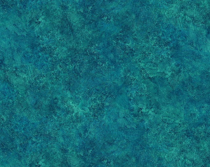 Northcott Stonehenge Gradations Lagoon Blue Teal Mottled Granite Marble Fabric 39301-63 BTY