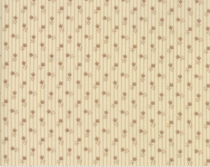 Moda Jos Shirtings by Jo Morton Cream Tan Beige Brown Floral Civil War Fabric 38045-12 BTHY
