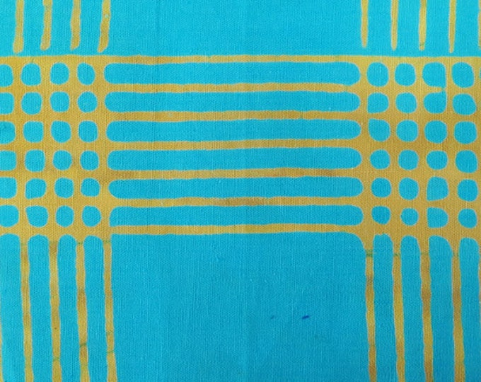 NEW Andover by Alison Glass Chroma Sun Prints 8132-T Turquoise Blue Plaid Batik Fabric BTY