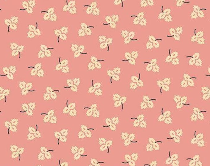 Henry Glass Blush and Blue Kim Diehil 1967 22 pink leaves Quilt quilting Fabric Cotton BTY