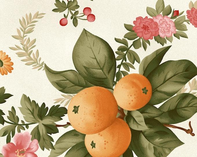 Maywood Fabric MAS9320-E A Fruitful Life Fruitful Floral BTY