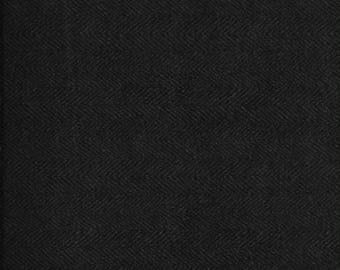 Maywood Woolies Black Herringbone  FLANNEL Fabric MASF-1841-K4  BTY