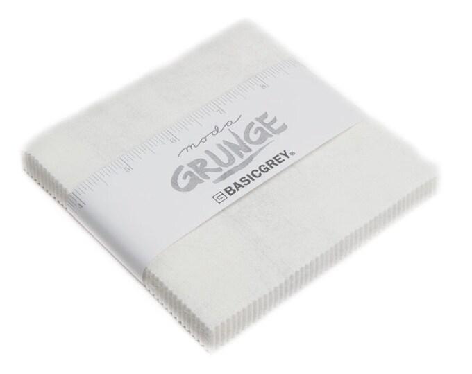 Moda Grunge White Paper 30150-101 Neutral Background White Cream 5 x 5 Modern Charm Squares Fabric
