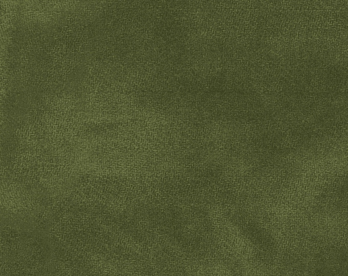 Maywood WOOLIES Color Wash Flannel Fabric Cyprus Garden Hunter Green 9200-G3 BTHY