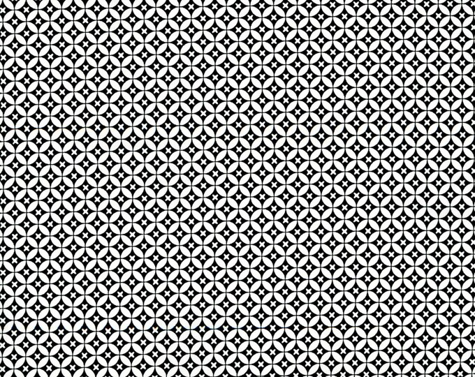 RJR Patrick Lose Odds and Ends Black and White Fabric 2911-001 White Background Black Circles BTY