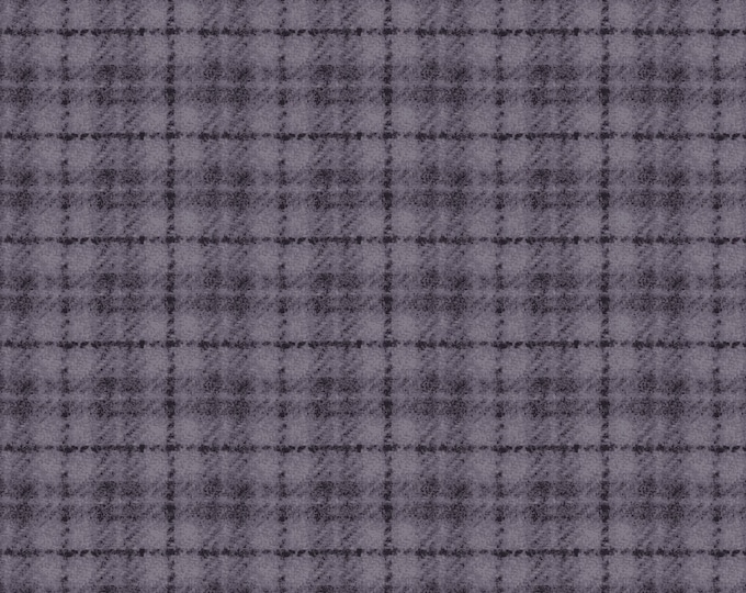 Maywood Woolies  Purple Blue Plaid FLANNEL Fabric 18502-VB BTY