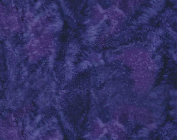 Hoffman 1895 Watercolors Solid Batik Fabric 1895-358 Vegas Purple Grape BTY