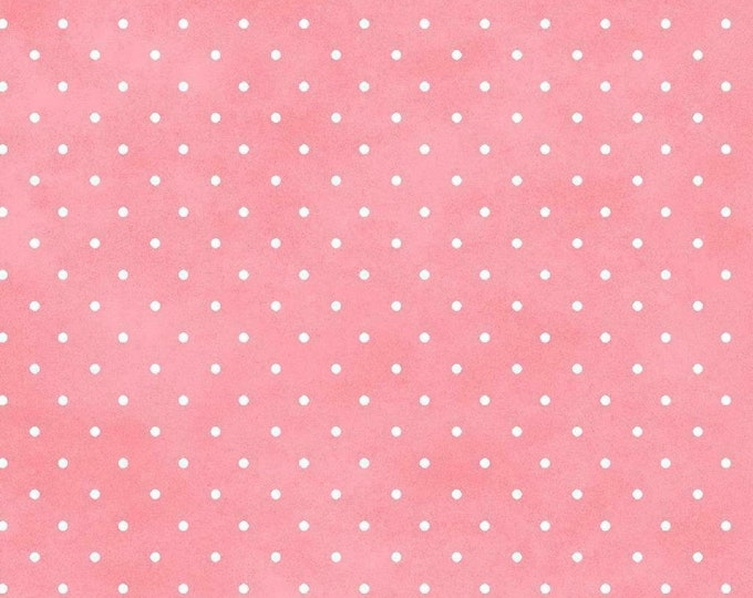 Maywood Wild Rose Marti Michell Pink White Polka Dot Flannel Fabric 609 BTHY