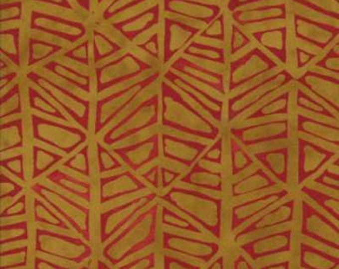 Moda Simple Marks by Malka Dubrowsky Gold and Red theme Cotton Fabric 23224-18 BTY
