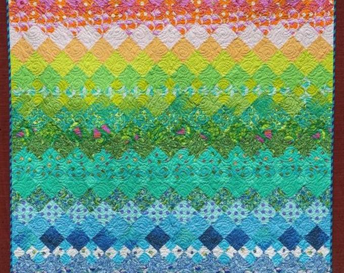 Free Spirit Tula Pink Aurora Zuma Complete Fabric Quilt Kit and Pattern 68 x 80 - Free Shipping