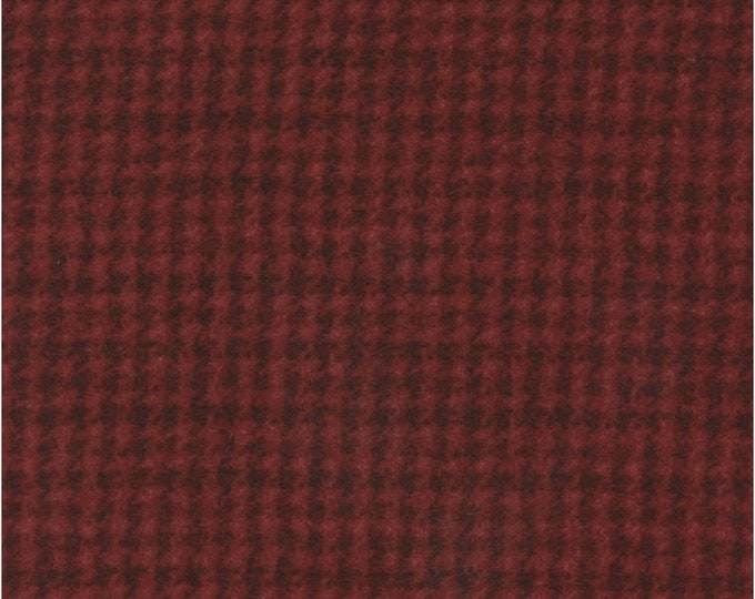 Maywood Woolies Red Houndstooth 18503-RJ Flannel Fabric BTY