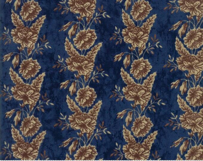 Moda Betsy Chutchian Rachel Remembered Indigo Blue Navy Civil War Floral Fabric 31541-19 BTY