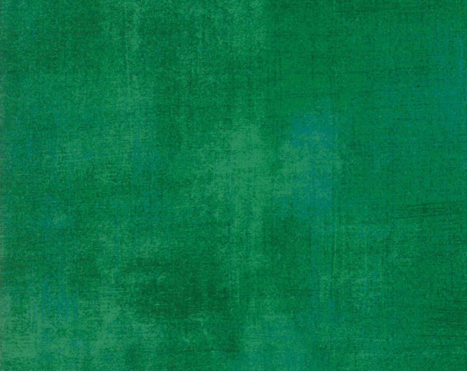 Moda Grunge Basics AMAZON Green Mottled Background Fabric 30150-340 Fabric BTHY